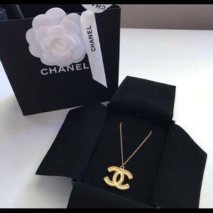 Chanel Matte Gold CC necklace